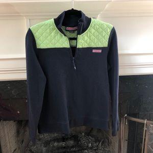 Vineyard Vines Shep shirt in navy and mint green